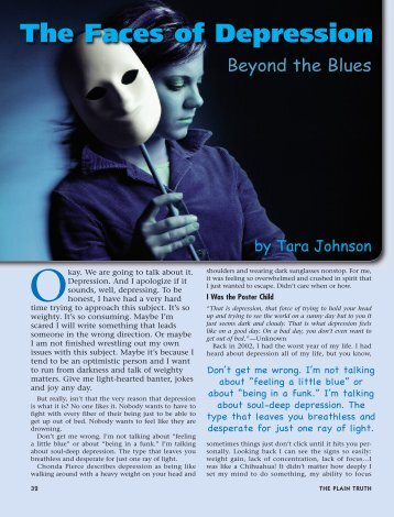 Faces of Depression...Beyond the Blues - Plain Truth Ministries