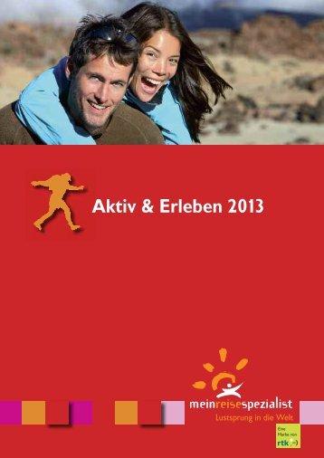 Aktiv & Erleben 2013 - Reisebüro Travelline