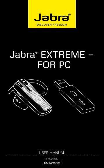 Jabra EXTREME User Manual