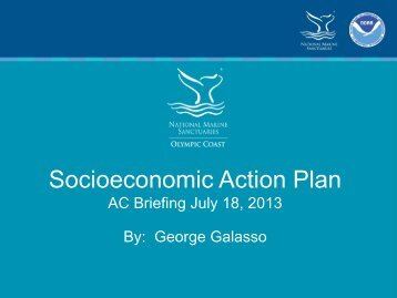 Socioeconomic Action Plan - Olympic Coast National Marine ...