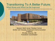 Transitioning To A Better Future: - Sickle Cell Disease Association of ...