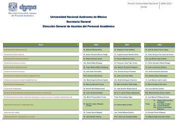 Premio Universidad Nacional - dgapa unam - Universidad Nacional ...