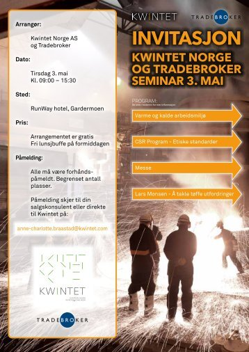 INVITASJON - Tradebroker