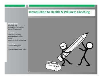 Introduceon to Health & Wellness Coaching - General Practice ...