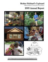 2009 Annual Report - Mother Hubbard's Cupboard