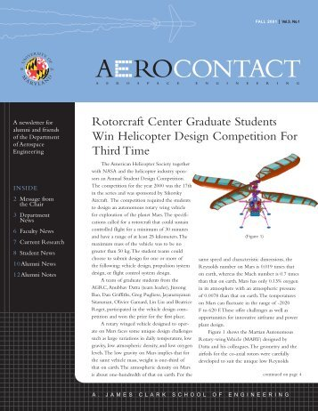 Rotorcraft Center Graduate Students Win Helicopter Design ...