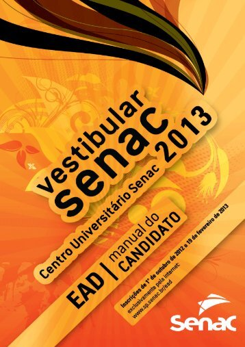 Manual do Candidato - Senac São Paulo
