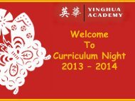 Overview - Yinghua Academy