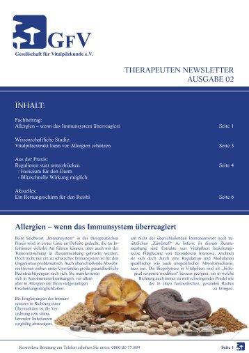 Therapeuten Newsletter Ausgabe 02/2011 - GFVS