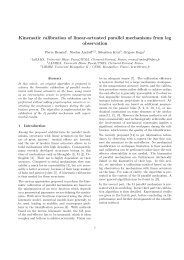Kinematic calibration of linear-actuated parallel mechanisms ... - HAL