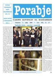 Leto XIX, št. 27 ČASOPIS SLOVENCEV NA MADŽARSKEM - porabje