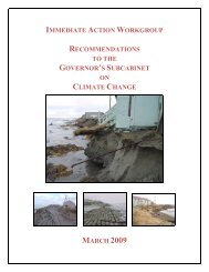 Immediate Action Work Group Final Report - Climate Change in ...