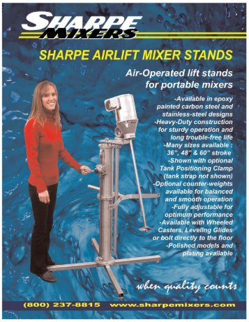 Airlift Mixer Stand - Sharpe Mixers