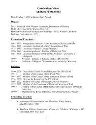 Andrzej Paczkowski - Cold War History Research Center