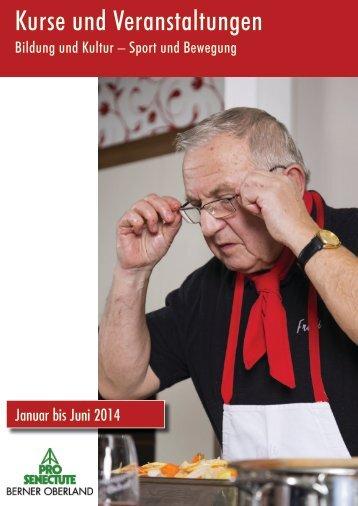 Kurse und Veranstaltungen - Pro Senectute Berner Oberland