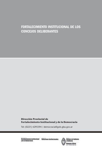 fortalecimiento institucional de los concejos deliberantes