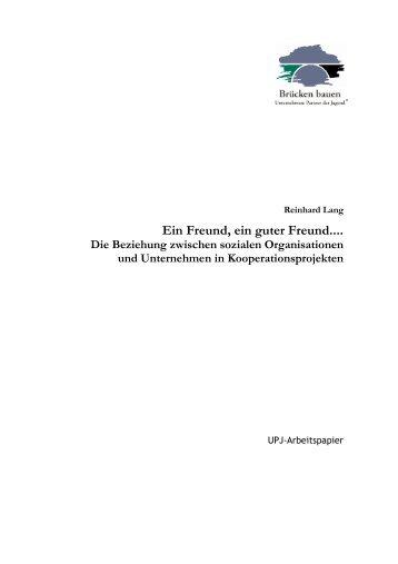 """""""Ein Freund, ein guter Freund... Aspekte der Beziehung ... - UPJ"""