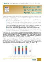 Note de suivi 2011 - DRAAF Poitou-Charentes