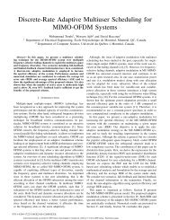 Discrete-Rate Adaptive Multiuser Scheduling for MIMO-OFDM ...