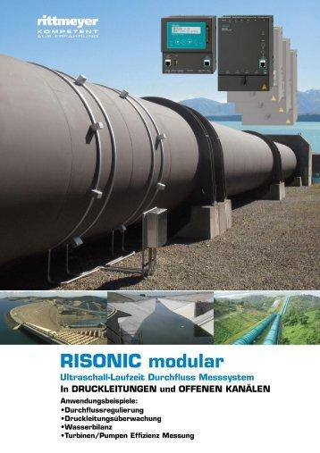 RISONIC modular Ultraschall-Laufzeit Durchfluss ... - Rittmeyer