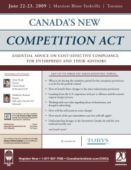 COMPETITION ACT - Miller Thomson