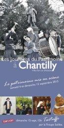 Visites - Ville de Chantilly