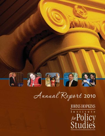 Annual Report. - Institute for Policy Studies - Johns Hopkins University