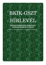 BKIK-GSZT HÍRLEVÉL - XV. kerület