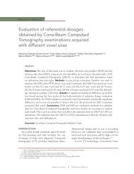 Evaluation of referential dosages obtained by Cone ... - Dental Press