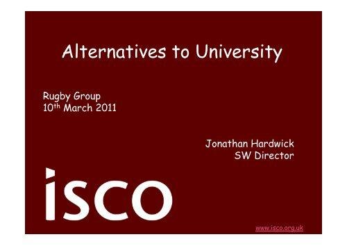 Alternatives to University