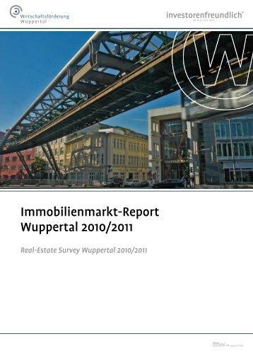 Immobilienmarkt-Report Wuppertal 2010/2011 - Stadt Wuppertal