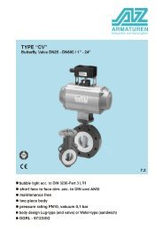 TYPE CV Chemistry butterfly and control-valve