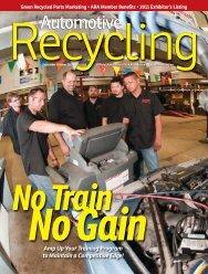 September-October 2011 - Automotive Recyclers Association ARA