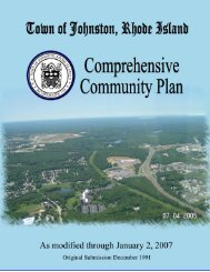 Johnston Comprehensive Community Plan - State of Rhode Island ...