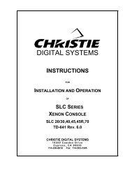 SLC Series Xenon Console Installation Information - Christie Digital ...