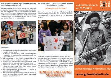 Flyer Guluwalk 2013 downloaden - Gulu Walk Berlin