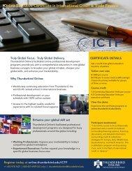 Online Executive Certificate in International Credit & Trade Finance