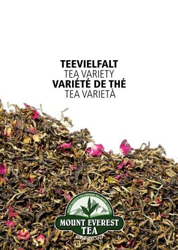 Catalogo di té 2013_14 - Mount Everest Tea Company GmbH