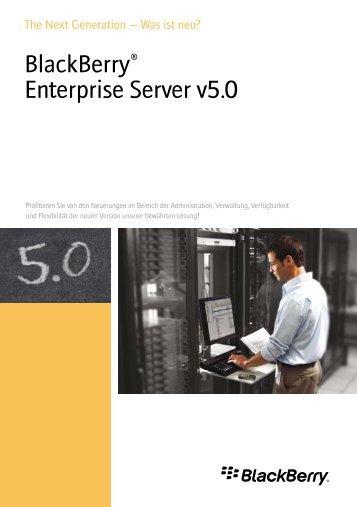 BlackBerry® Enterprise Server v5.0 - wireless & mobile