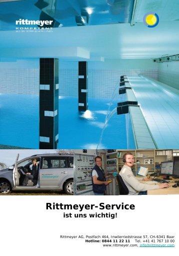 Rittmeyer-Service ist uns wichtig!