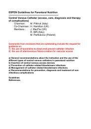 ESPEN Guidelines for Parenteral Nutrition ... - Sied