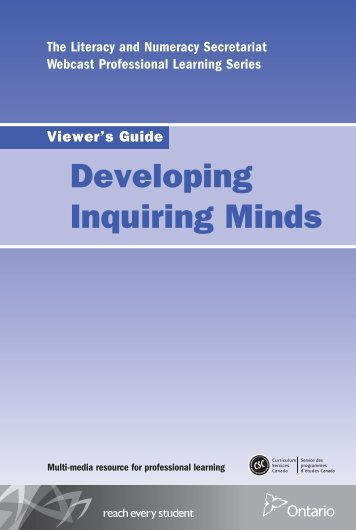 Developing Inquiring Minds Viewer's Guide - Curriculum Services ...