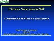 Cloro em Tratamento de Água - ASEC