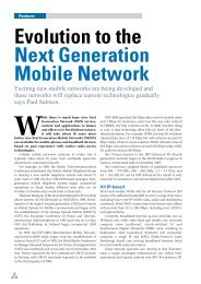 Evolution to the Next Generation Mobile Network - my Convergence ...