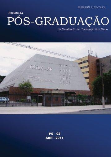 Revista da Pós-Graduação nº 2 - Fatec