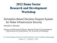 Presentation at the ERDC Dams Sector R_D Workshop - Southeast ...