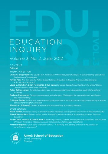 Classroom assessment and education