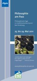 Philosophie am Pass - Kultur-oa.de
