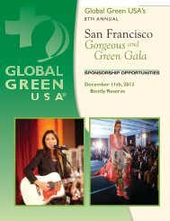 Sponsorship - Global Green USA