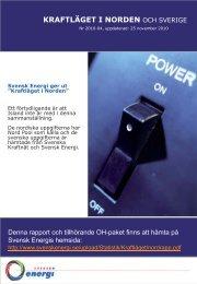 kraftläget i norden - Svensk energi